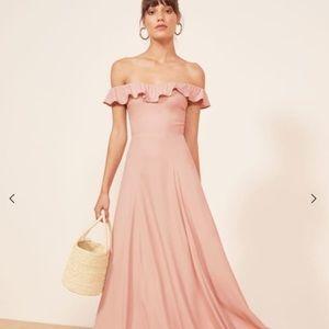 REFORMATION Verbena Formal Maxi Dress Blush